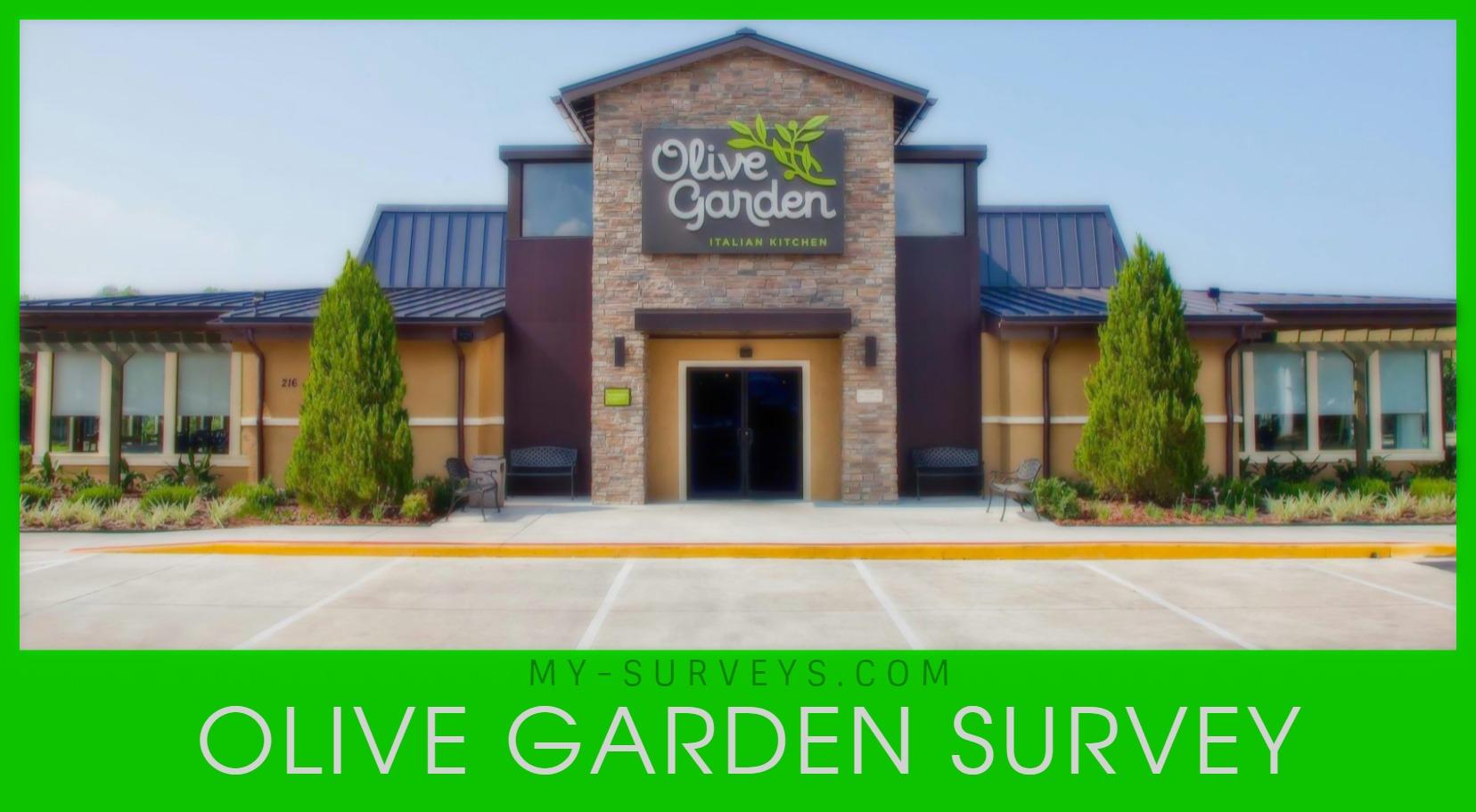 OLIVE GARDEN SURVEY- Take Entry In Sweepstakes @ www.olivegardensurvey.com