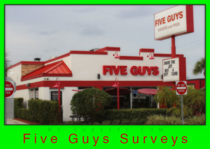 five guys surveys
