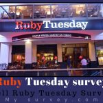 Ruby Tuesday Survey @ www.tellrubytuesday.com