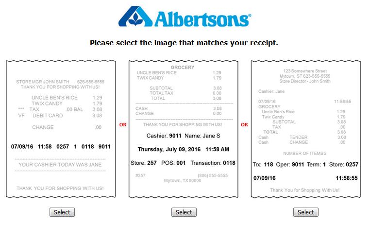 Albertsons Store Customer Survey