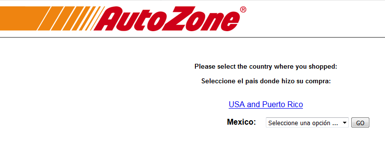PROCESS FOR AUTOZONE CARE SURVEY