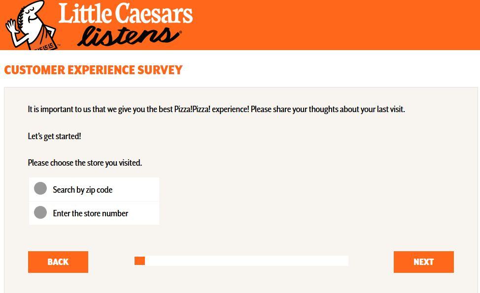 EASY STEPS:Little Caesars Survey & Sweepstakes2