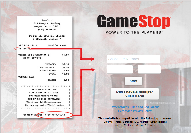 TellGameStop. GameStop Survey