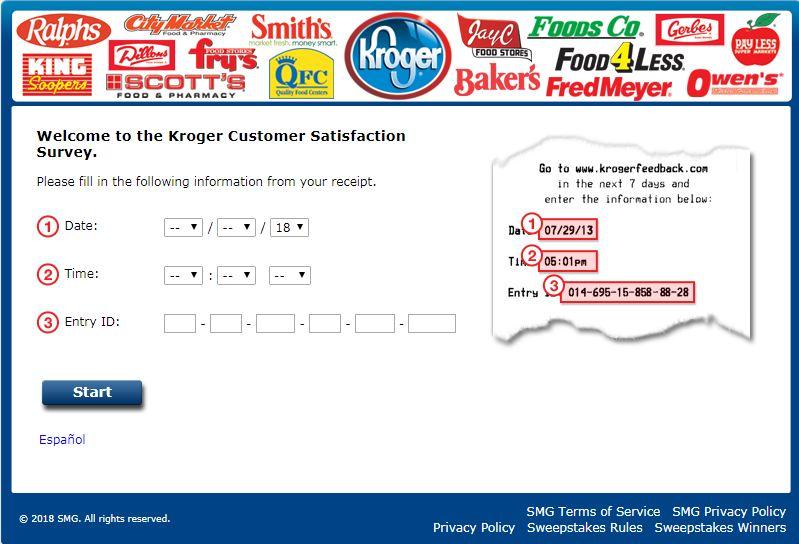 kroger feedback survey