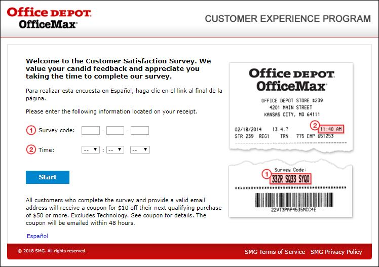 🤑 Office Depot survey Customer Experience @ www