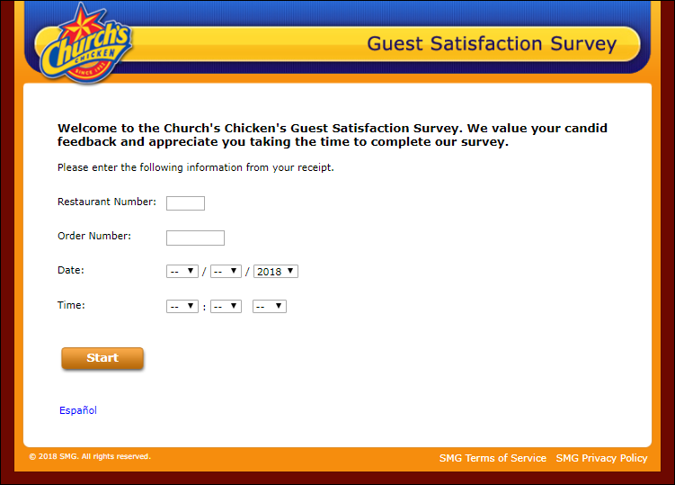 church's chickens survey
