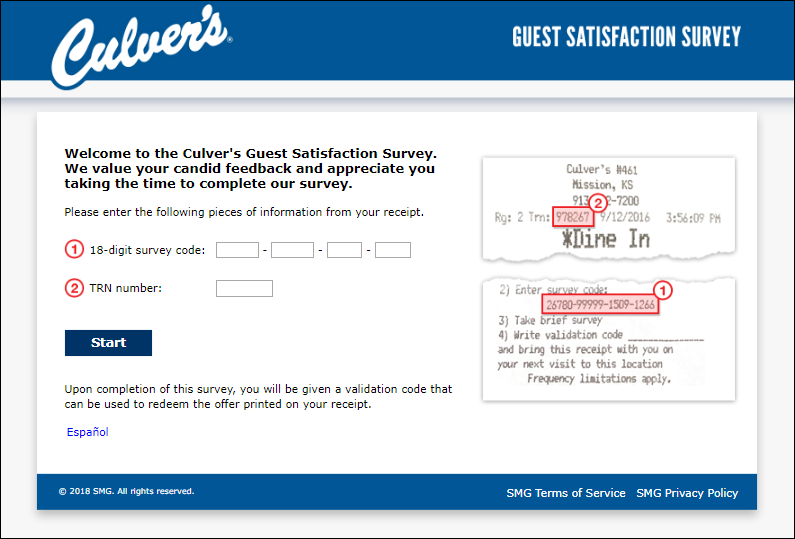 culvers survey