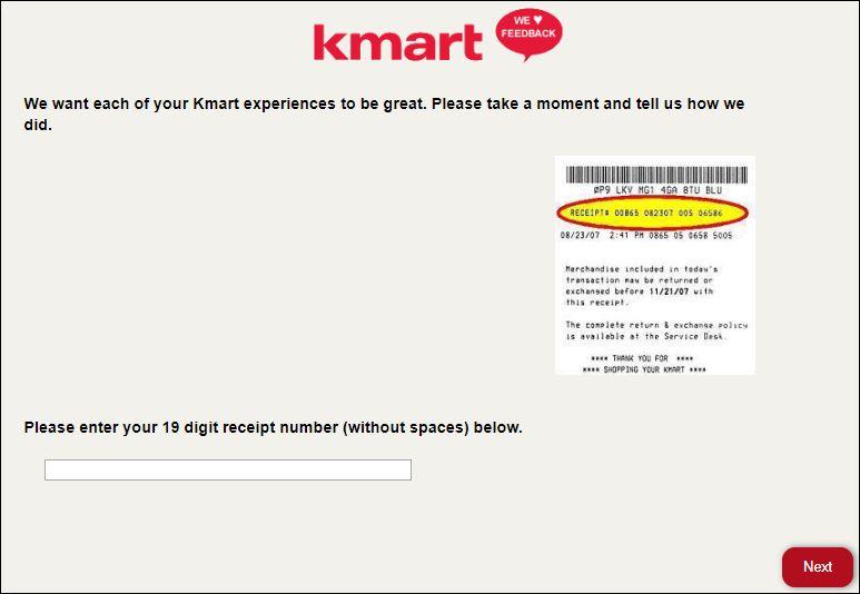 kmart survey 2