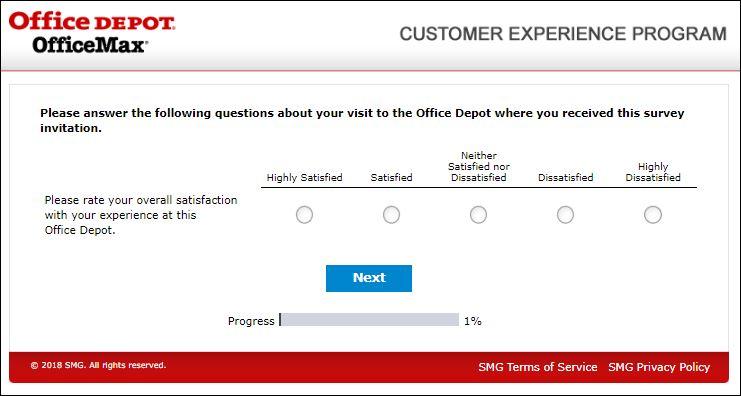 Office Depot Customer Feedback Survey