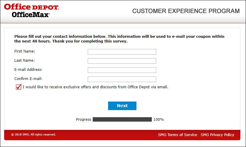 Office Depot Guest Experience Survey