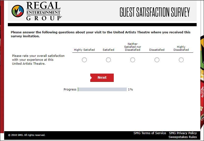regal survey 2