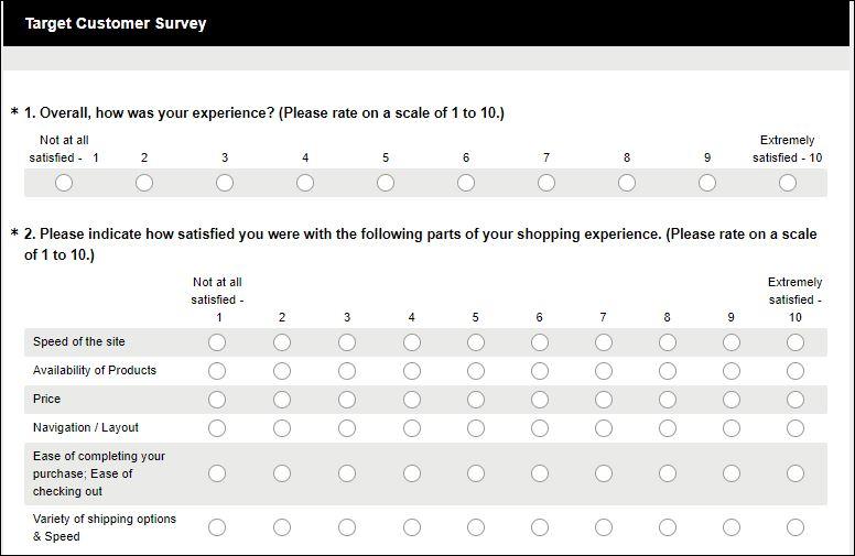 target survey 1