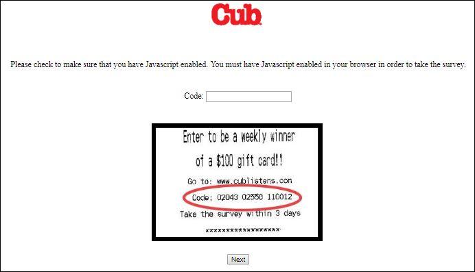 cub survey