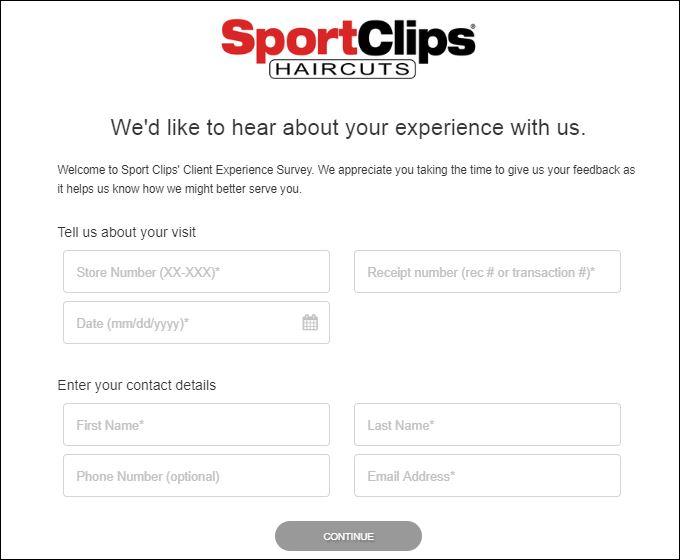 sport clips survey