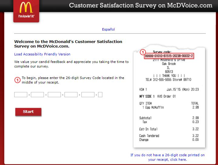 McDonald's Receipt Customer Satisfaction Survey - Maximizing Money