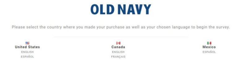 Old Navy Customer Feedback Survey @ www.feedback4oldnavy.com