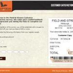 Fieldandstreamshop Survey At www.tellfieldandstream.smg.com
