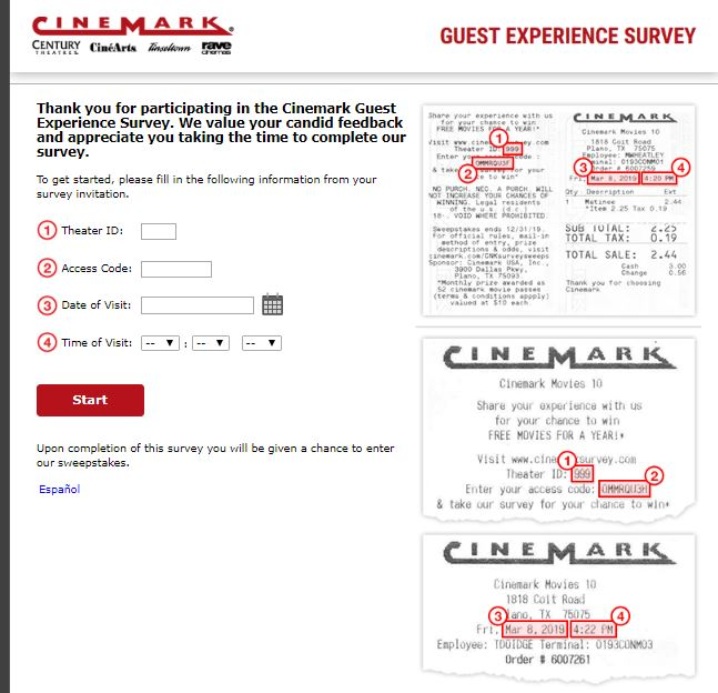Cinemark Theatre Customer Satisfaction Survey