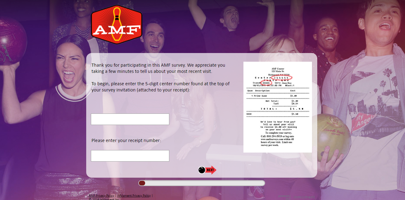 amf bowling customer survey
