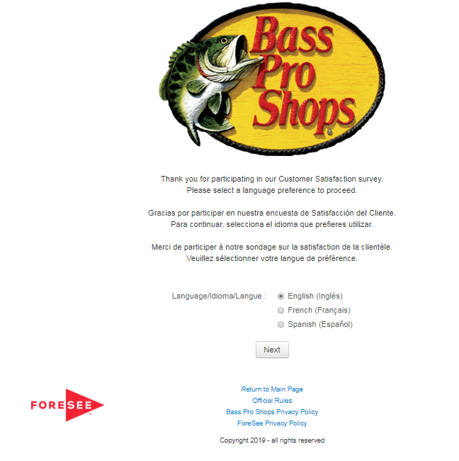 Bass Pro Shops Customer Survey