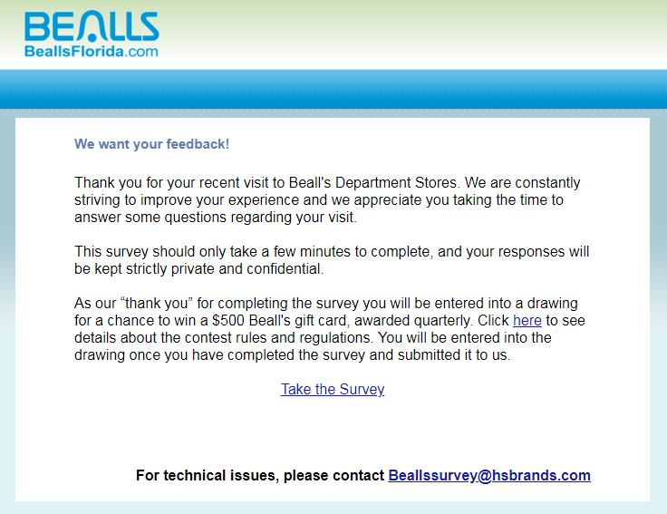 www.beallsflorida.com/Survey.