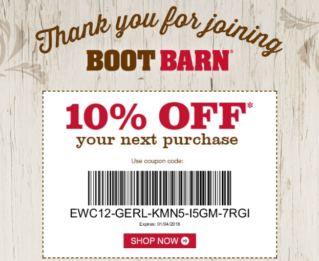Boot Barn Rewards - Coupon Code