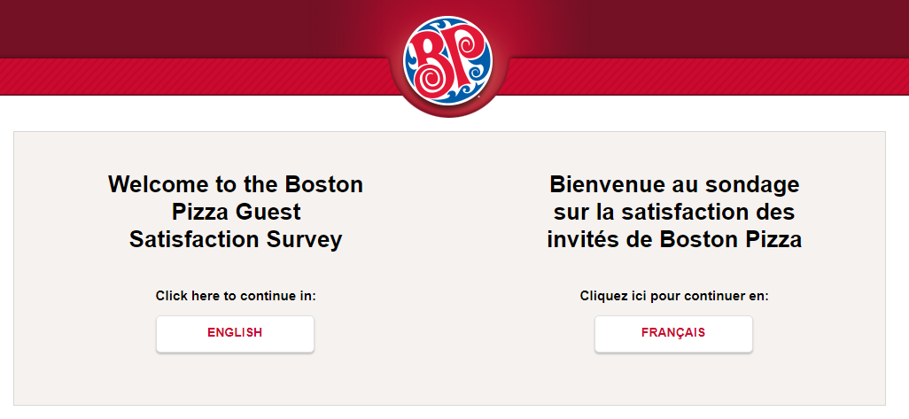 Boston Pizza Guest Survey