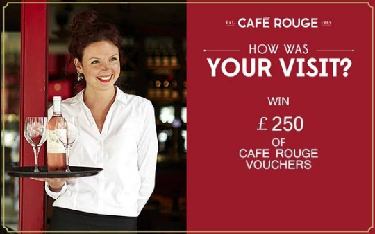 Cafe Rouge Survey Rewards