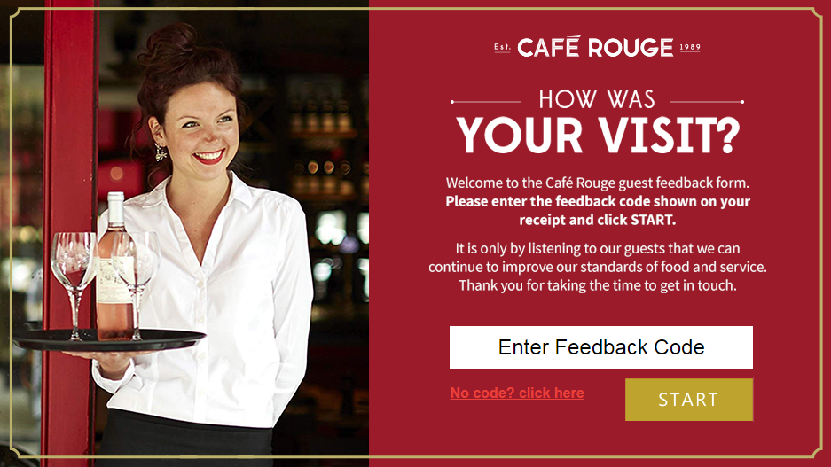 Cafe Rouge Customer Feedback Survey