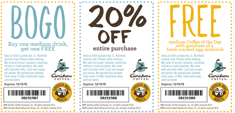 Caribou Coffee Rewards -Validation Code