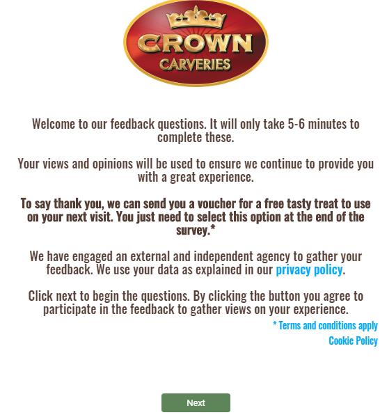 Crown Carvery survey