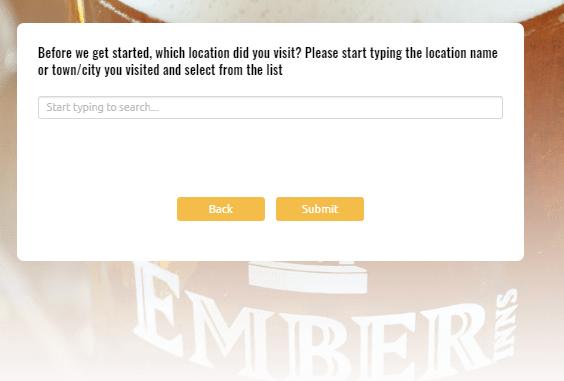 Ember Inns Guest Survey