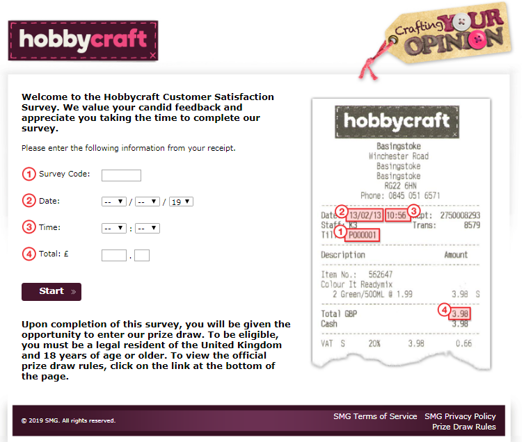 Hobbycraft Customer Feedback Survey