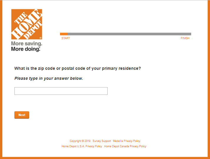 Home Depot Com Survey