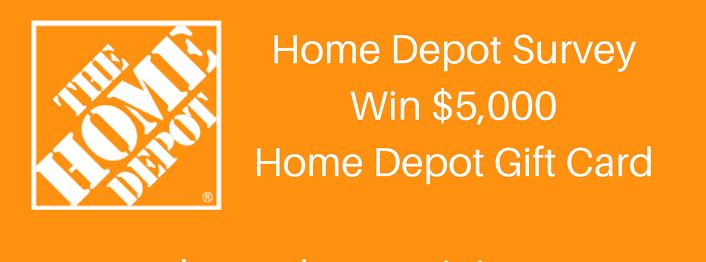 Home Depot $5,000 Gift Card Survey