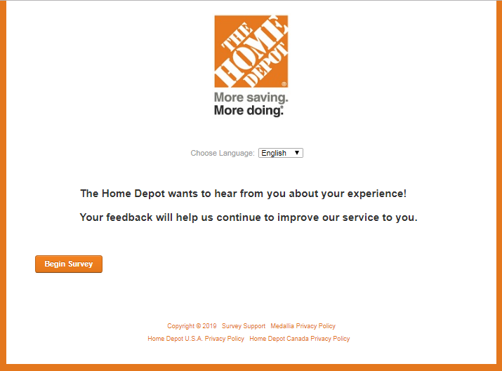homedepot.com/survey