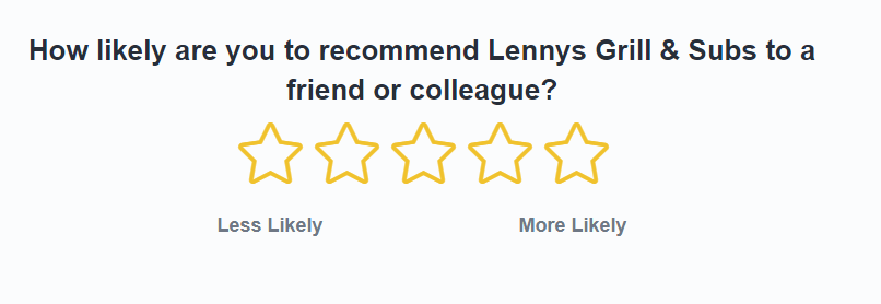 Lenny's Guest Experience Survey