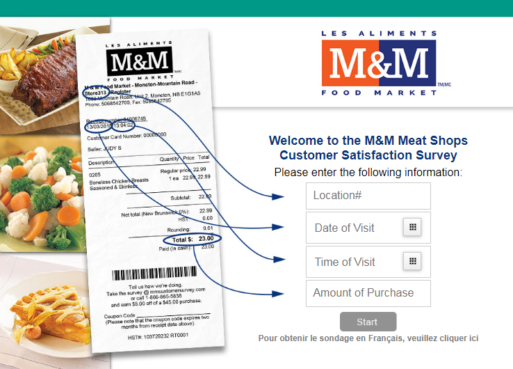 M&M Meat Shops Customer Survey Sweepstakes