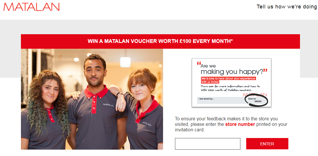 Matalan Customer Survey