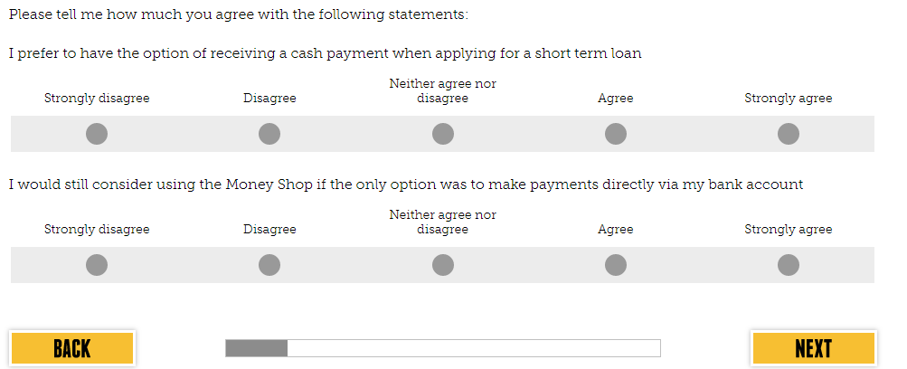 Money Shop Feedback Survey
