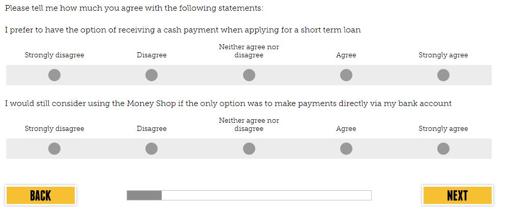 Money Shop Feedback Survey