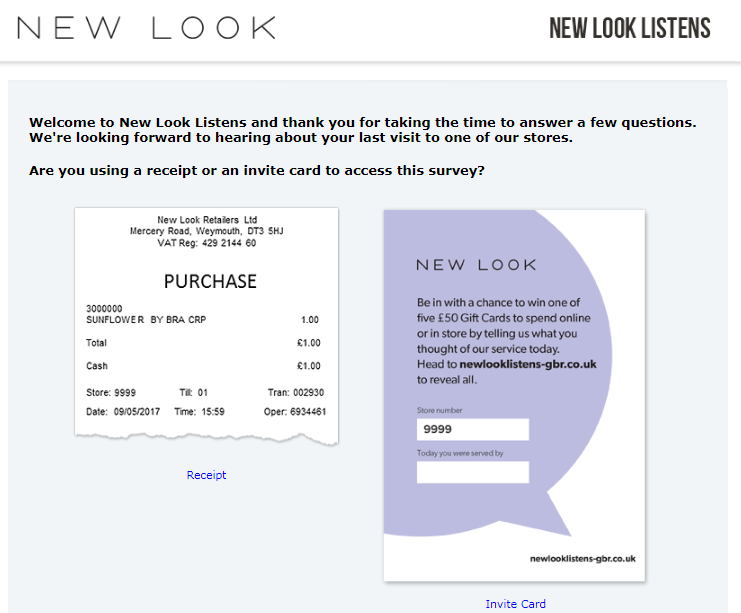 New Look Listens Survey
