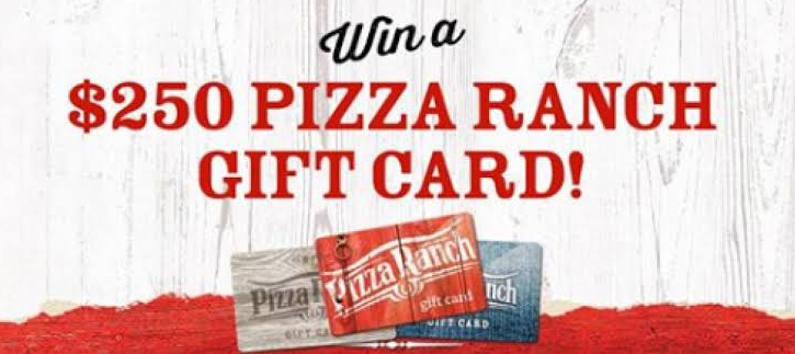 $250 Pizza Ranch Gift Card