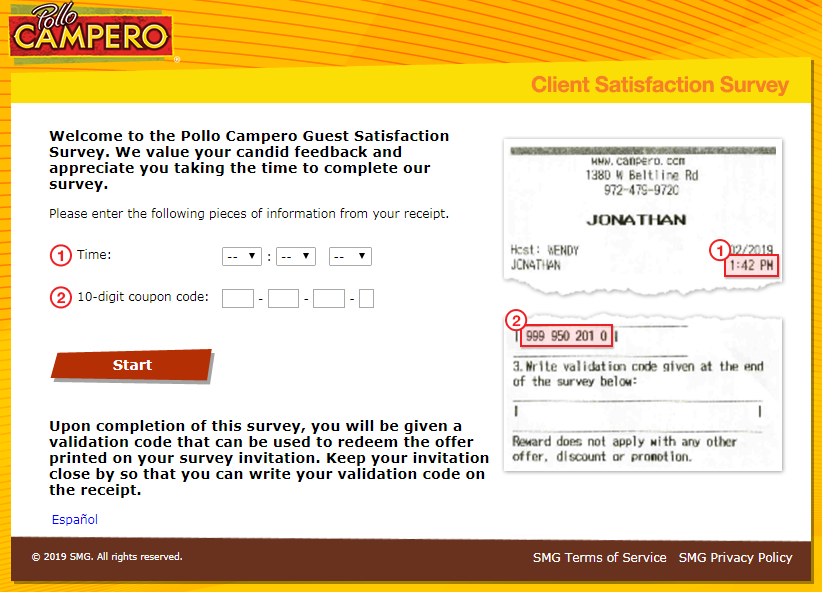 pollo campero customer satisfaction survey