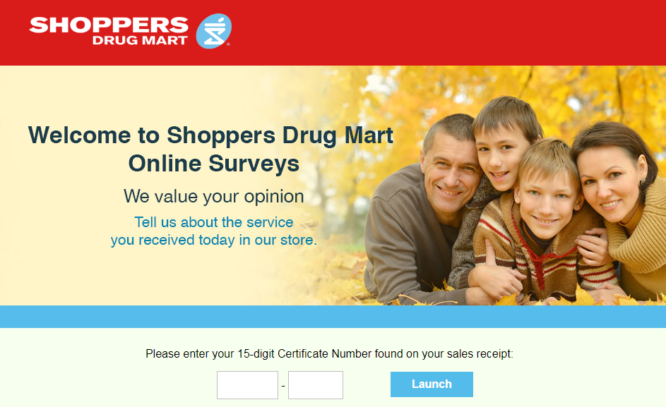 Shoppers Drug Mart Online Survey