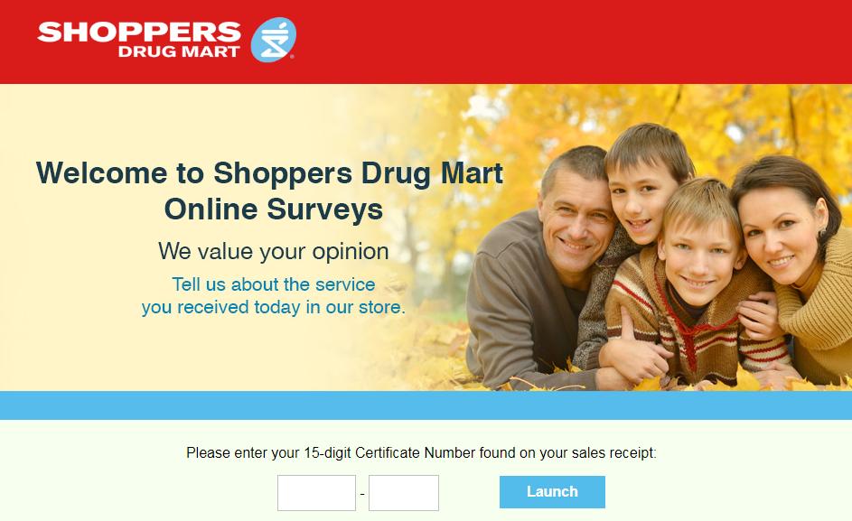 Shoppers Drug Mart Online Survey