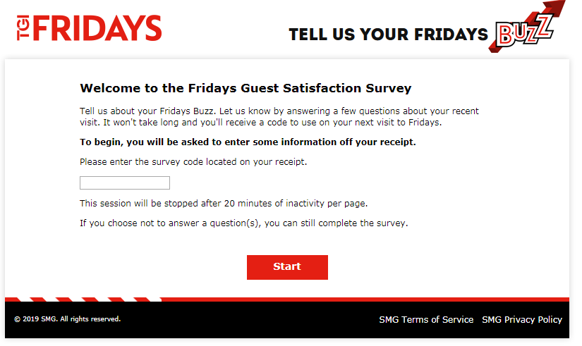 T.G.I. Friday's Guest Experience Survey