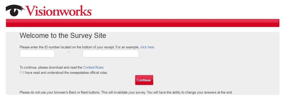 Visionwork Customer Feedback Survey