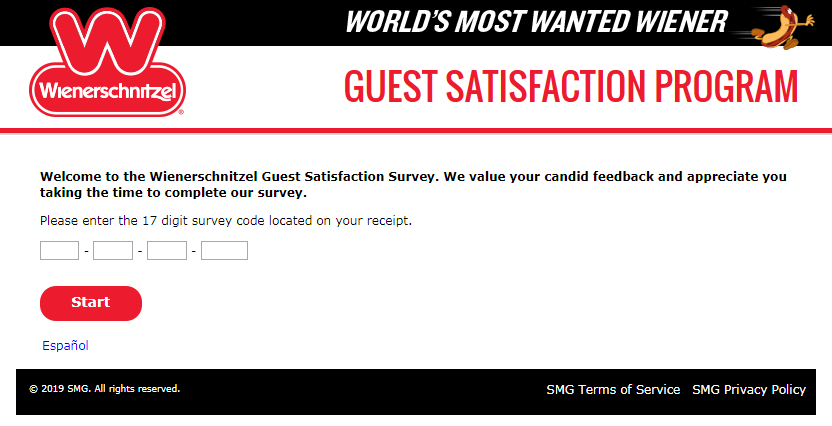 Wienerschnitzel Guest Satisfaction Survey