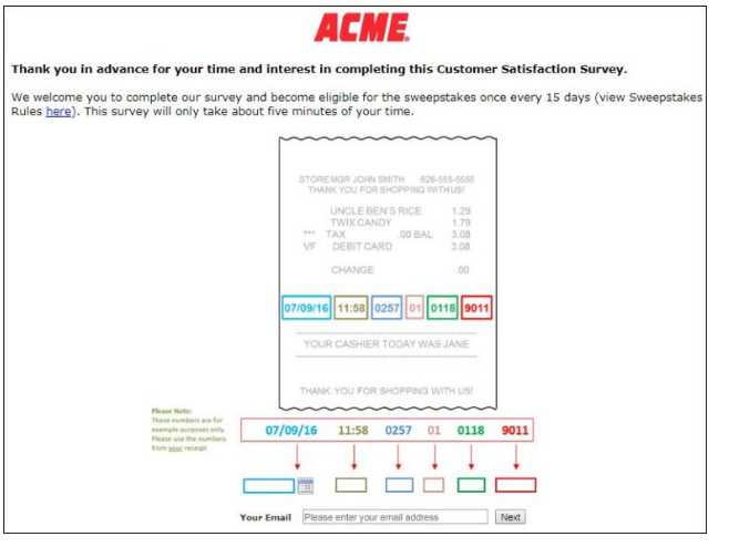 ACME Customer Experience Survey
